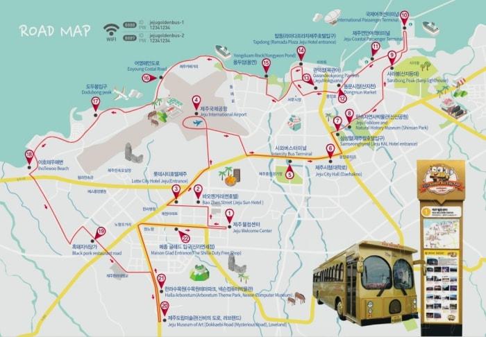 Jeju Bus Tour Map