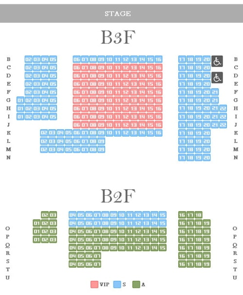 Nanta Hongdae Theater Seating Map