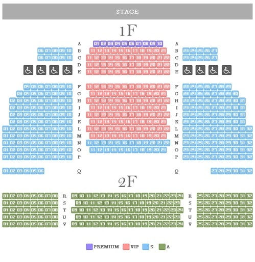 Nanta Chungjeongno Theater Seating Map