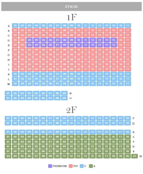 Nanta Myeongdong Theater Seating Map