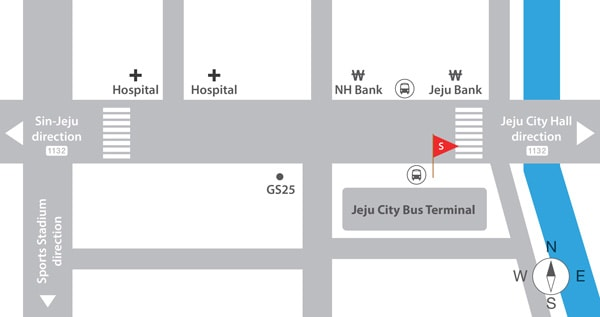 Jeju City Meet Location Map